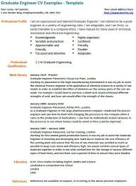 Engineering Student Cv Examples Professional Resume Templates