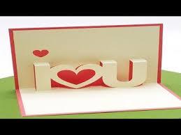 diy valentine s day pop up card diy anniversary cards love gift idea handmade greeting card ideas