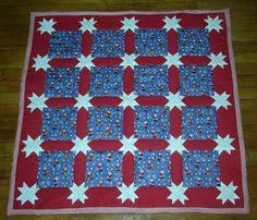 Sashing for Quilt Squares | and the quilt itself is constructed by ... & Morning Star Sashing Quilt 3 Adamdwight.com