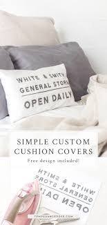 Create Your Own Iron On Design Using Iron On Transfer Paper To Create Custom Cushions Diy