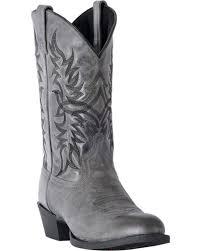 zoomed image laredo men s harding grey waxy leather cowboy boots medium toe grey hi