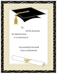 invitation download template 40 free graduation invitation templates template lab