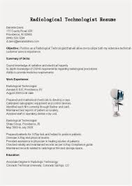 Remarkable Mri Technologist Resume Sample On Radiologic Examples Of ...