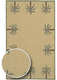 cafe series palm tree border indoor outdoor rug rugs design area