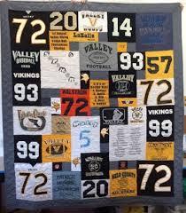 Quilts Made From Football Jerseys & Football T-shirt quilt Adamdwight.com