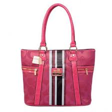 Coach Zip In Signature Medium Pink Totes 20611