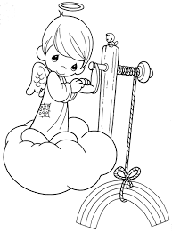 Precious Moments Angels Coloring Pages Para