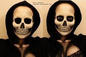 skull makeup by lekstedt how to apply