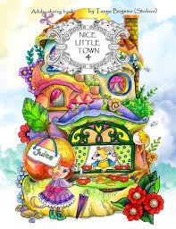 Nice Little Town 4 Adult Coloring Book Coloring Pages Pdf Etsy
