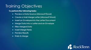 Mail Merge Training Presented By Richard Snapp November 4 Ppt