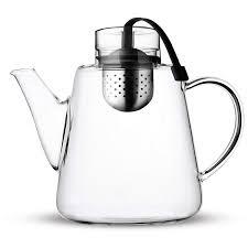 Designer Glass Teapot Vialli Design Amo Glass Teapot With Infuser 1 5l Black