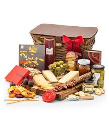 gifttree cheese charcuterie gift basket includes cheeses stuffed olives uncured salami