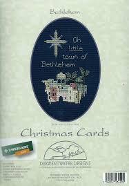 Derwentwater Designs Penrith Derwentwater Designs Counted Cross Stitch Kit Bethlehem Christmas Card