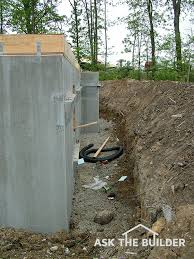backfilling a foundation wall