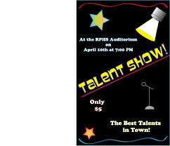 Talent Show Flyer Background Talent Show Template Free Tmplts