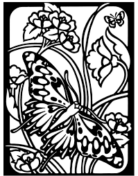 Stained Glass Coloring Pages Nature