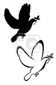 Fototapeta Sada Dvou Domorodých Holubice Tetování