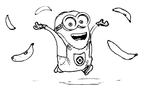 Bob Minion Coloring Pages To Print Printable Coloring Page For Kids