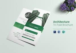 Architecture Interior Designer Tri Fold Brochure Design Template