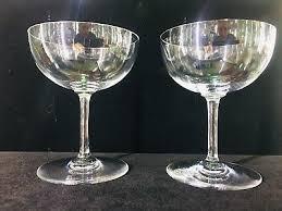 fine vintage baccarat crystal stemware 1960s champagne glasses acid etched