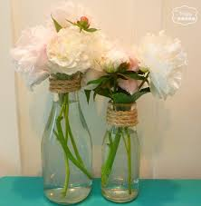 Decorative Jugs And Vases Simple Summer Decorating With Sisal Burlap And Blooms Milk