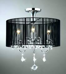 crystal chandelier with shade black drum co for ideas 7 large