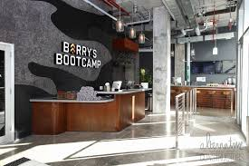front reception desk fuel bar concrete countertop custom color barry s bootcamp miami beach fl
