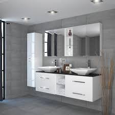 sonix 1500 glass top wall hung vanity unit inc counter top basins white