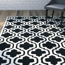 black rug hand tufted wool ivory area trellis and white moroccan 8x10