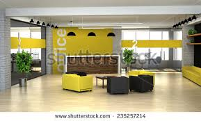 what is a reception office. 3d rendering an interior of the modern office hall with reception desk what is a p