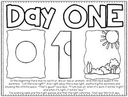 creation coloring sheet 7 days of creation story boards and coloring sheets by teacher