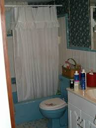 ugly bathroom blue and busy