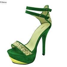 <b>Yifsion New Fashion</b> Women Platform Sandals Stiletto High Heels ...