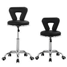 yaheetech pedicure spa chair stool nail hair technician black walmart