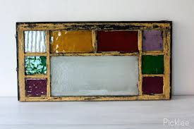 vintage leaded glass windows antique stained glass window red yellow purple blocks on spring vintage stained