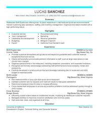 Best Shift Supervisor Resume Example Livecareer