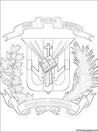 Dominican Republic Coat Of Arms Coloring Page Coloring Pages