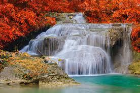 autumn erawan national nature park
