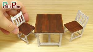 diy how to make miniature table  chair vintage paint tutorial