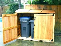 outside garbage can storage box plans