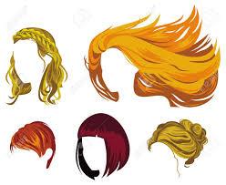 女性の髪のスタイルの種類顔なしの髪型の画像ラスターのクリップアート