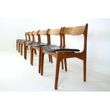 dining chair with genuine leather by erik buch for o d teak bedroom furniture sets teak bedroom furniture set of 6 danish teak wood chair