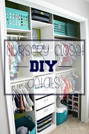 Baby boy nursery closet - DIY nursery closet deatails - navy green gray -  This is