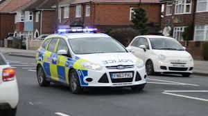 Police Car Lights Uk British Police Car Responding Blue Lights And Sirens