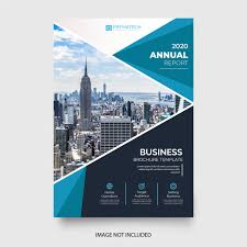 Report With Pictures Abstract Annual Report With Blue Shapes Vector Free Download