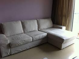 ikea kivik two seat sofa and chaise lounge