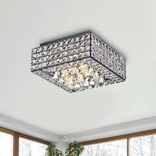 chandeliers flush mount chandelier modern square crystal in antique black kitchen lighting home depot