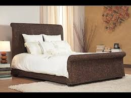 Oversized Wicker Sleigh Bed - YouTube
