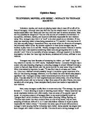 persuasive essay about violence on tv effects of television violence on children and teenagers essays