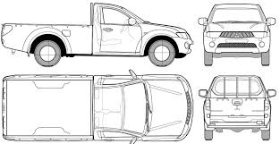 Pickup Truck Vector Outline | SOIDERGI